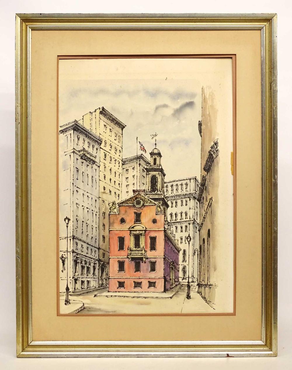 American School, Watercolor