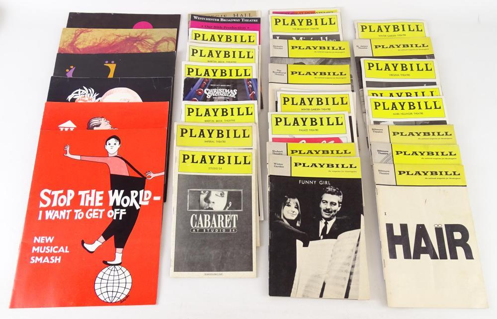 Large Assortment of Vintage Broadway Playbills