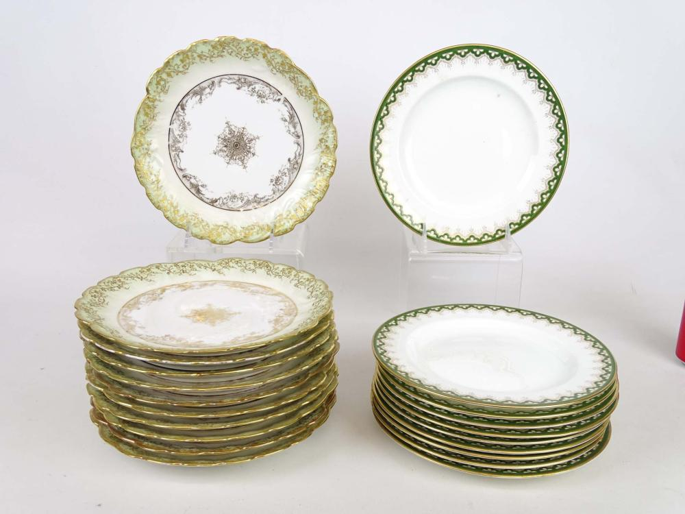 Two Sets of Porcelain Plates