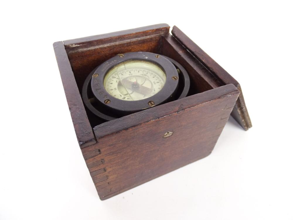 Early Boxed Ships Compass