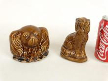 Rockingham Glaze Pottery Dog Banks