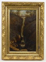 American School, 19th c. Waterfall
