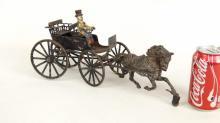 Cast Iron Surrey & Horse Toy