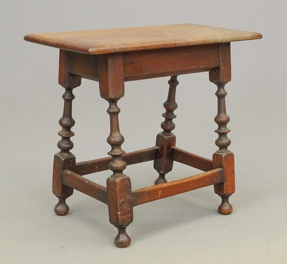 William & Mary Style Joint Stool