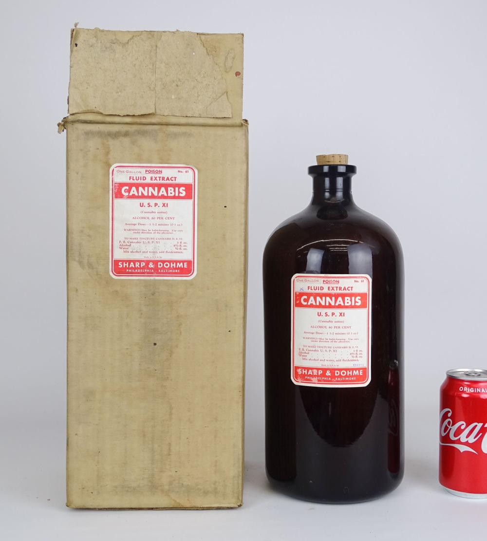 Cannabis Extract Bottle In Original Box