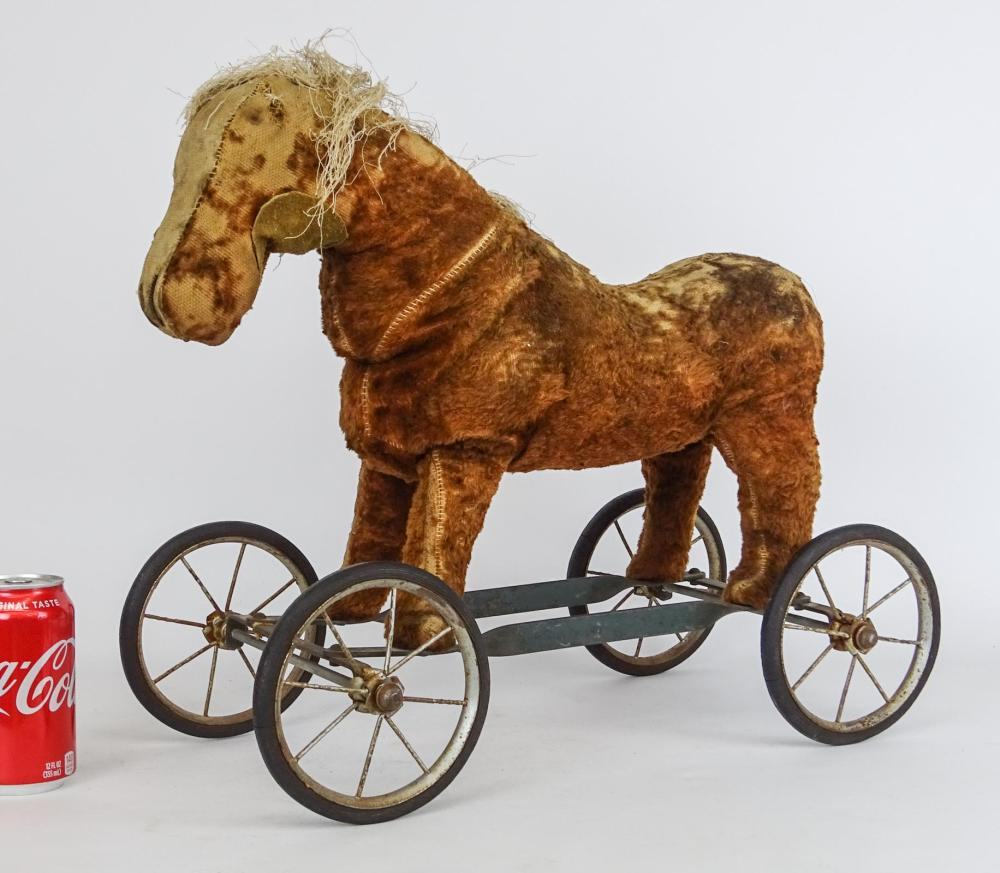 Early Toy Platform Horse