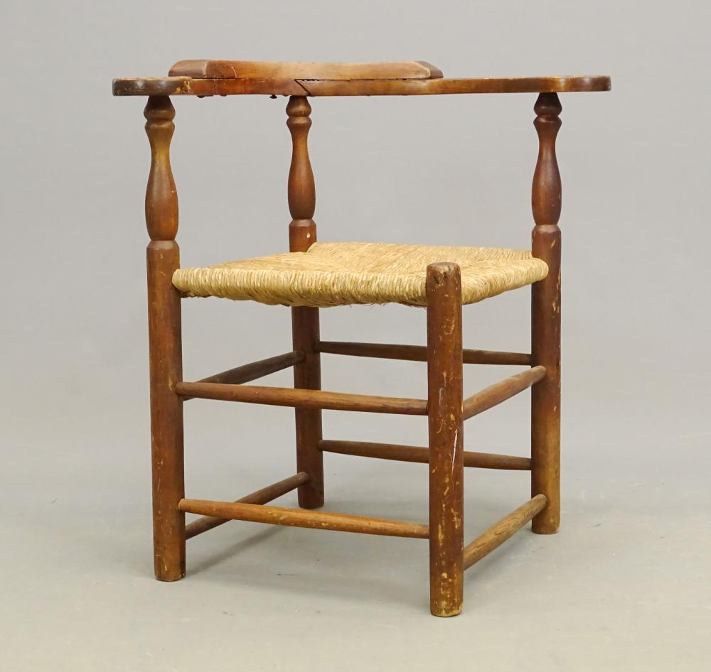 18th c. New England Corner Chair