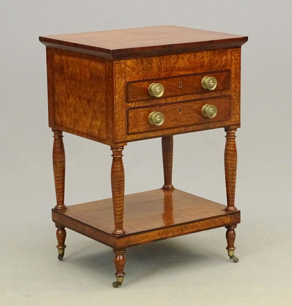 19th c. Curly Maple Federal Stand