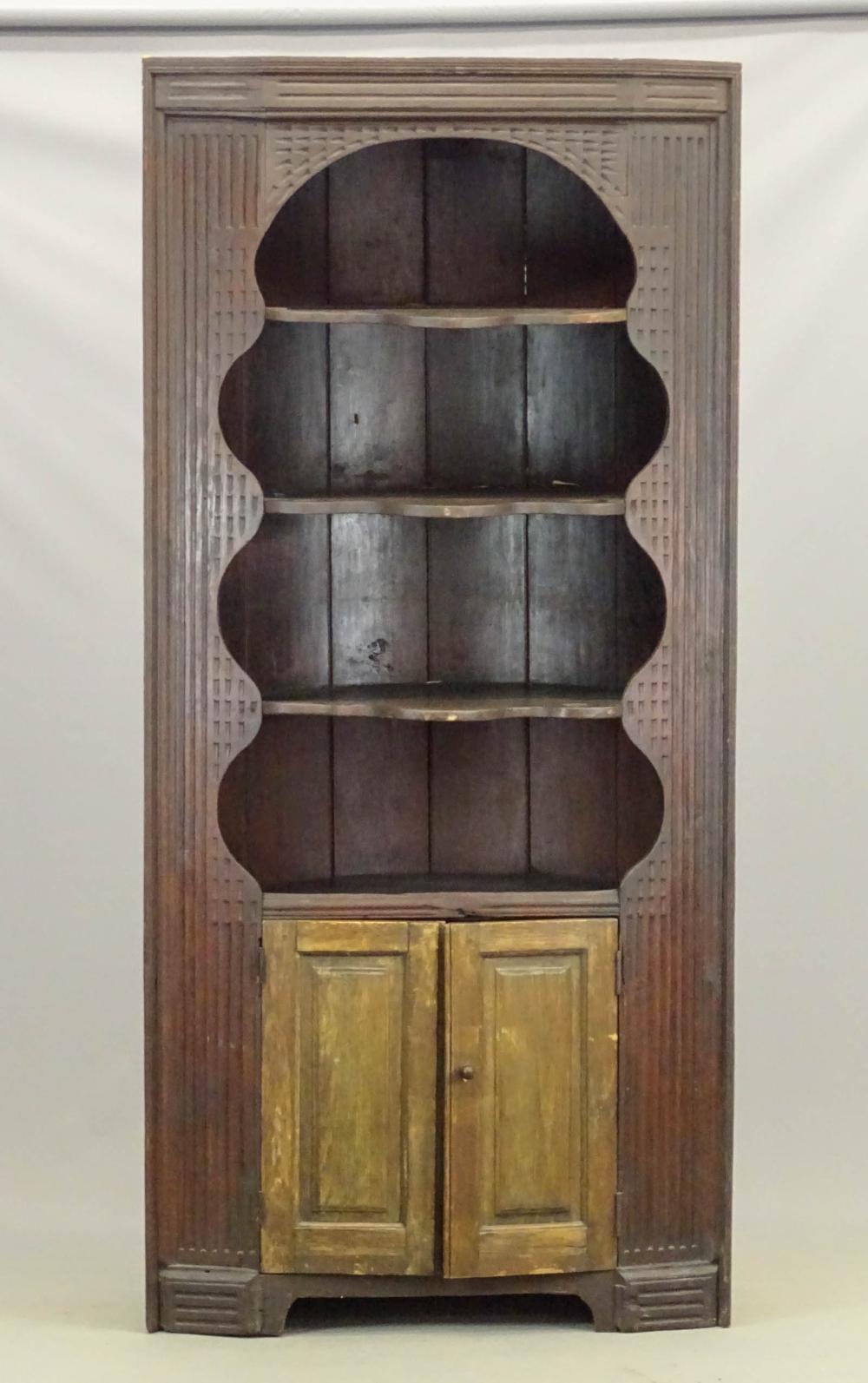 19th c. Corner Cupboard