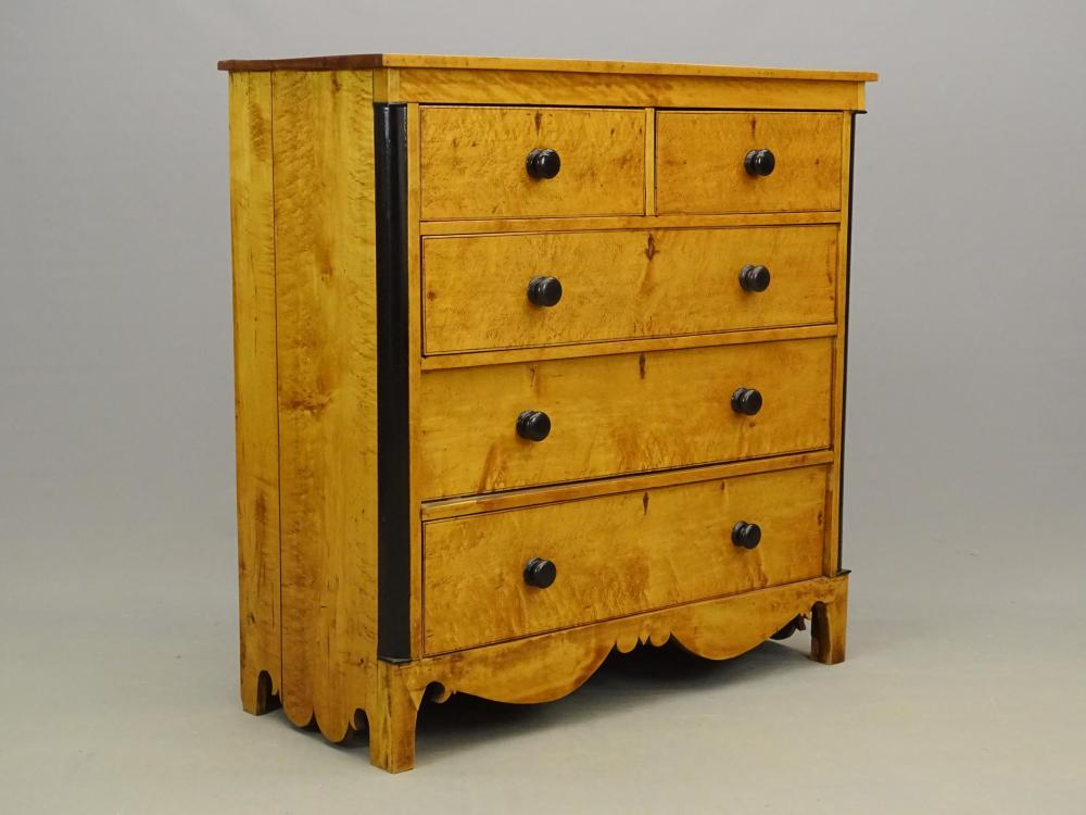 19th c. Birdseye Maple Chest Of Drawers