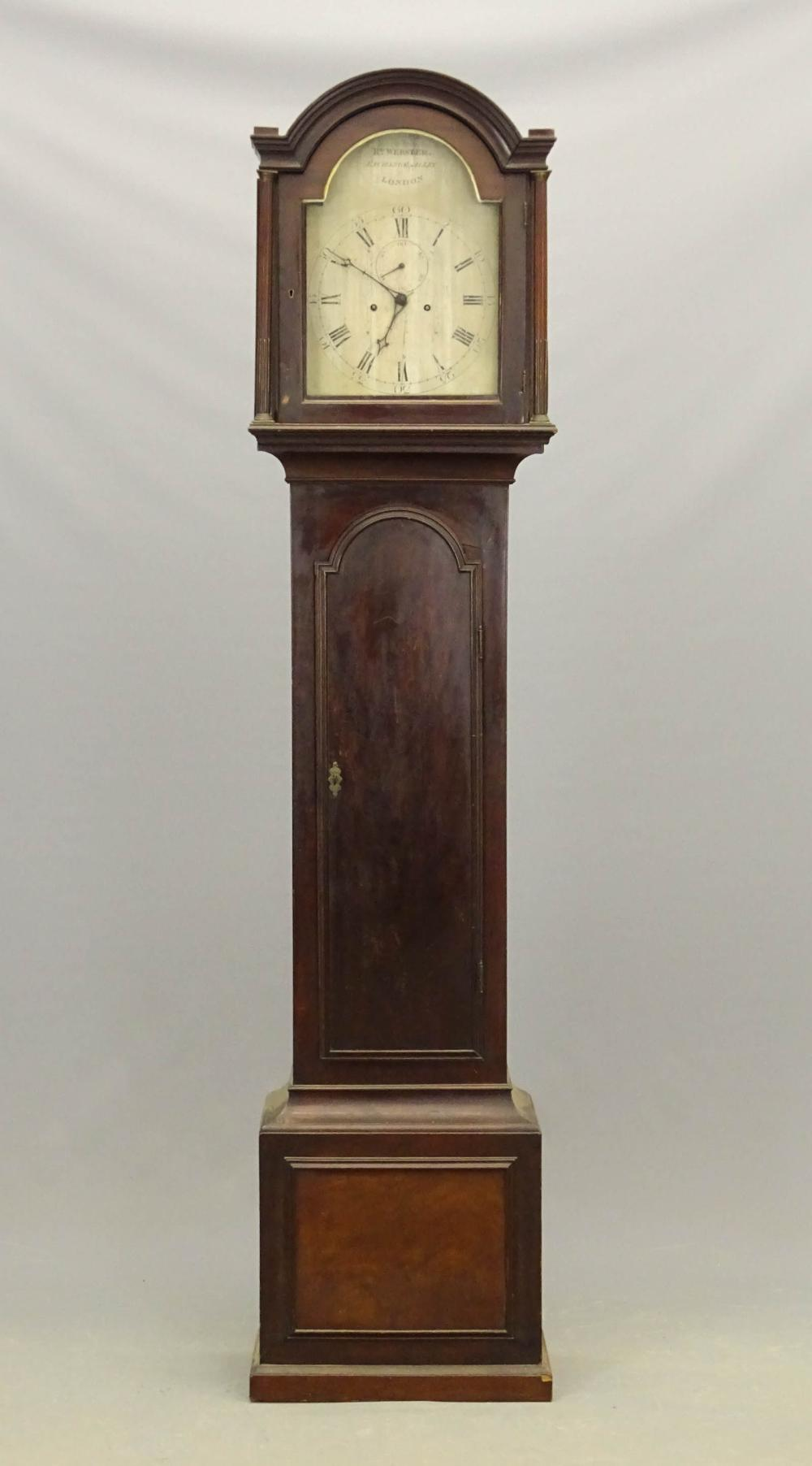 19th c. English Grandfather Clock