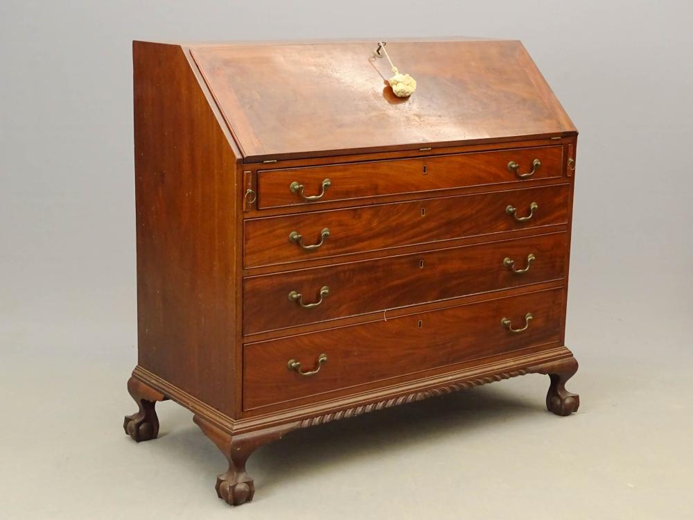 18th c. New York Chippendale Slant Lid Desk