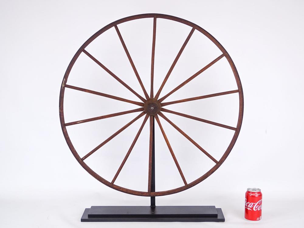 Early Custom Mounted Child's Wheel
