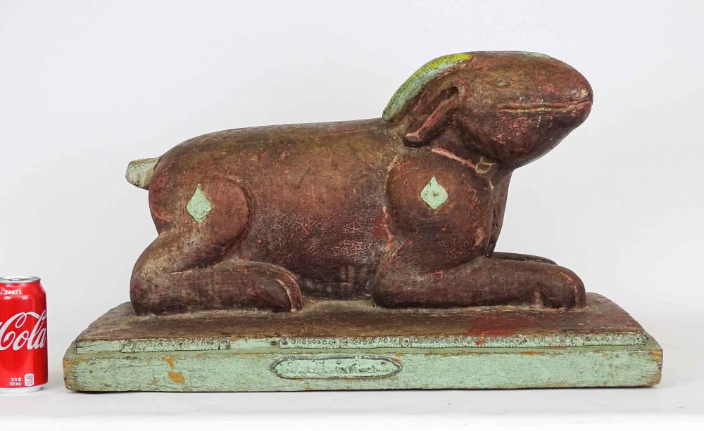 Indian School, Wooden Carved Animal