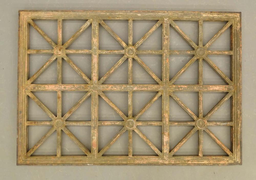 19th c. Cast Iron Window Grate