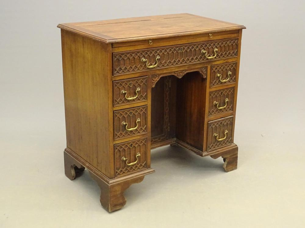 19th c. English Mahogany Kneehole Desk