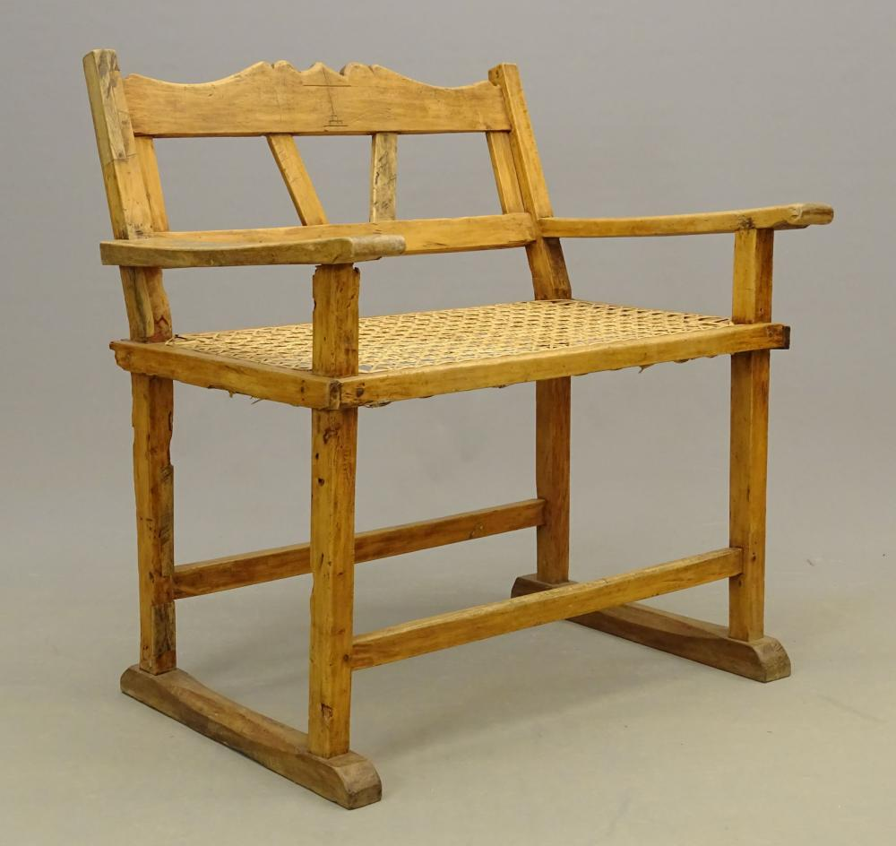 Mexican Cane Seat Settee