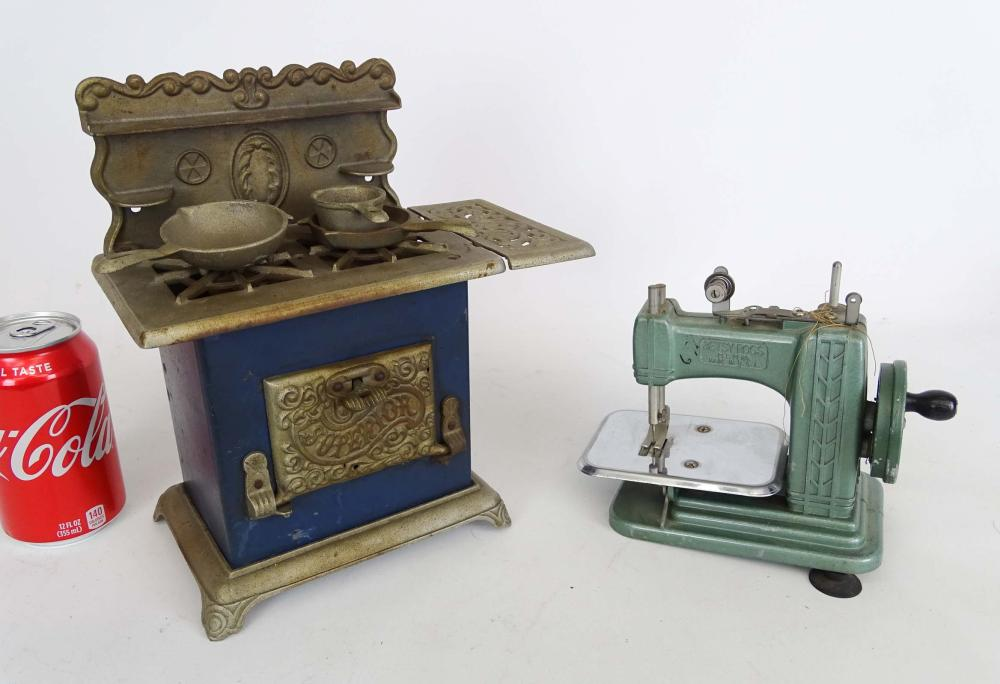 Toy Stove & Sewing Machine