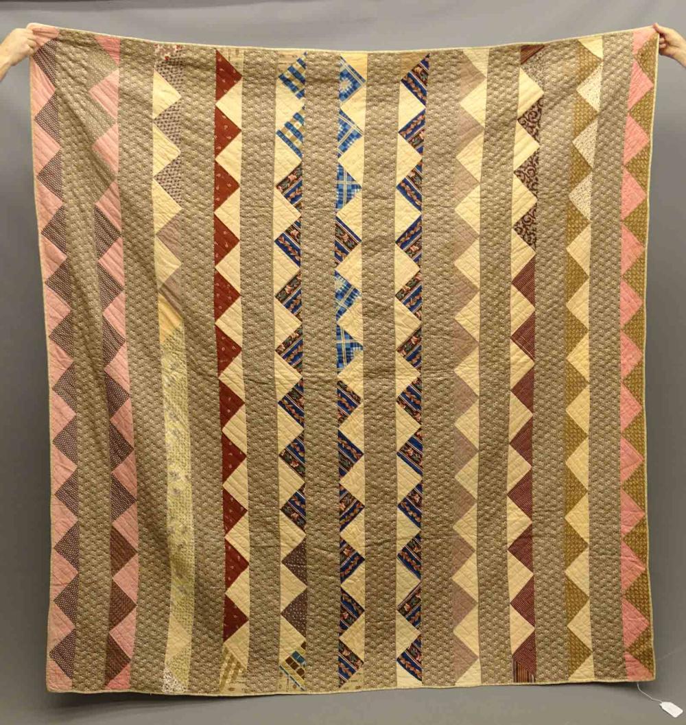 C. 1840 Sawtooth Strippy Quilt