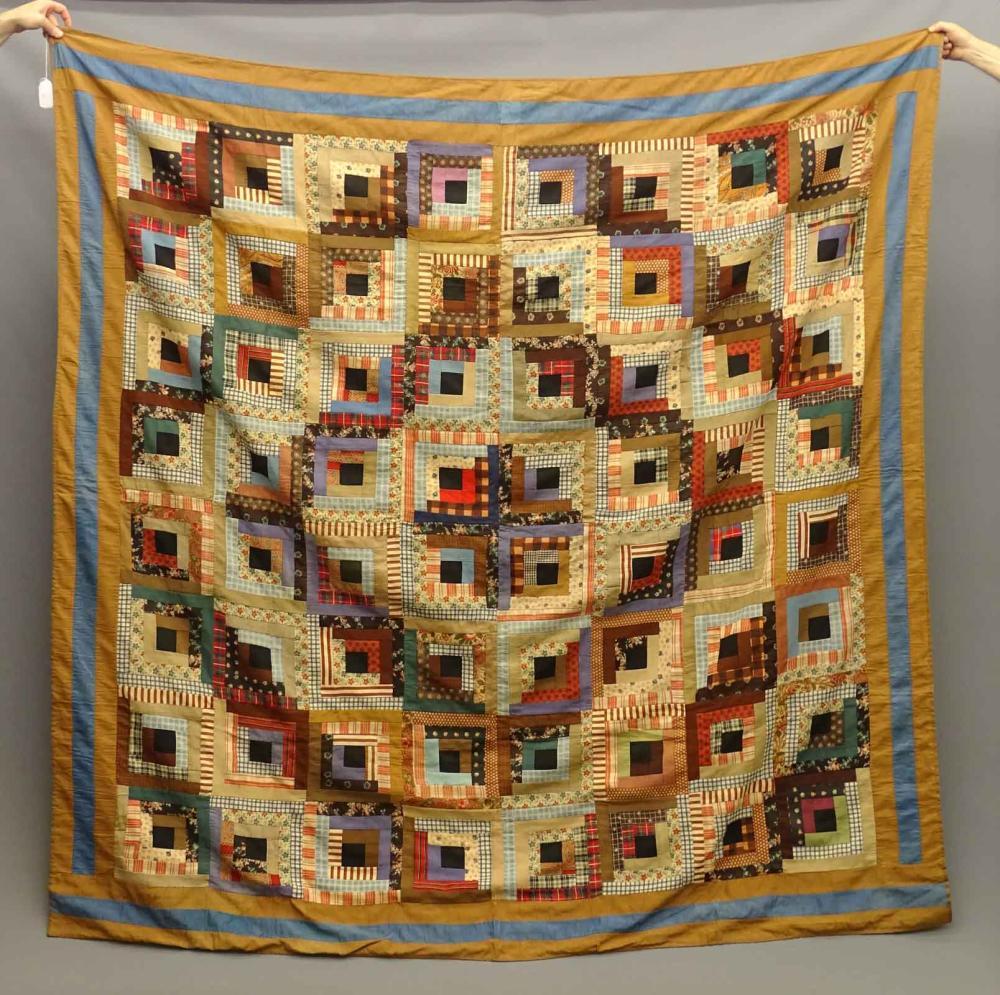 C. 1880 Wool Challis Quilt