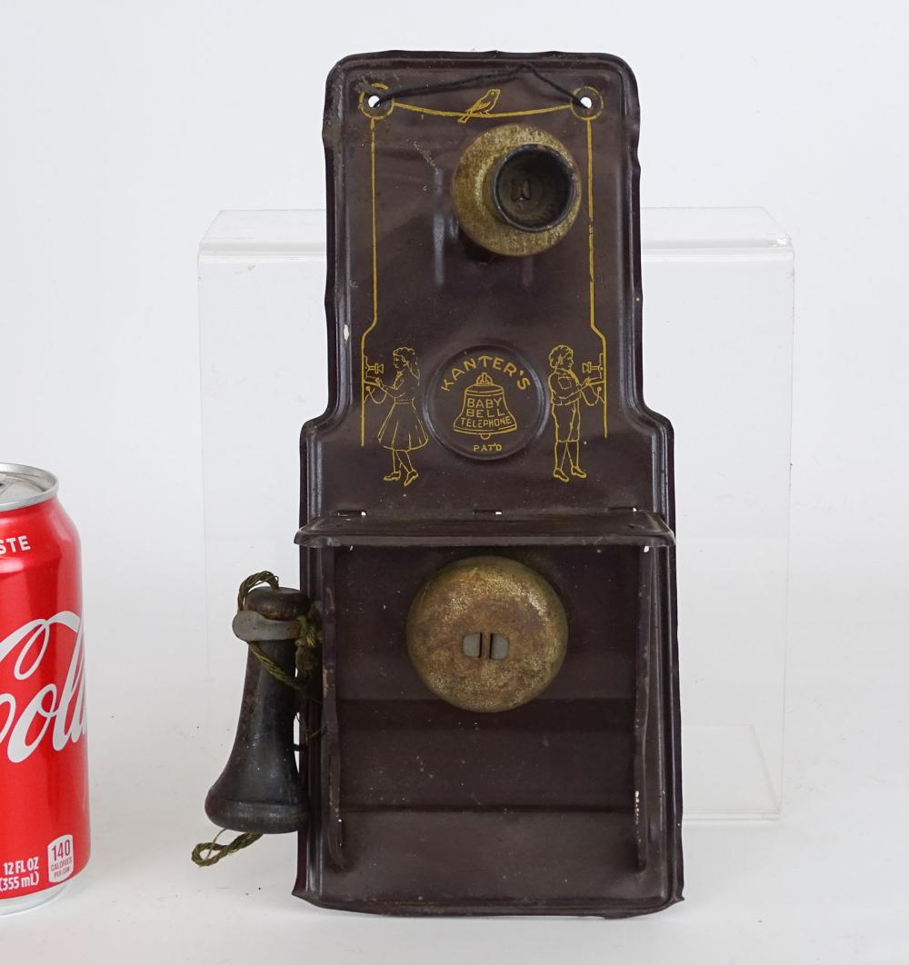 Kanters Baby Bell Tin Phone Bank