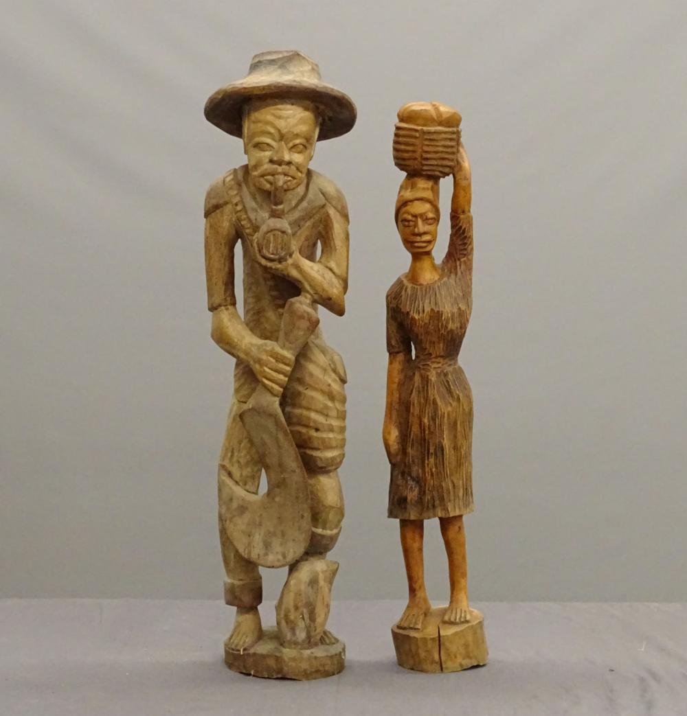 Folk Art Carved Wooden Figures