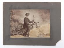 Early Photograph With Boneshaker