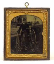 Ambrotype Of Facile & A High Wheel Bicycle