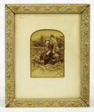 Cabinet Card Of Tandem Quadricycle