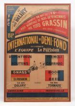 1972 Paris Velodrome Cafe Poster