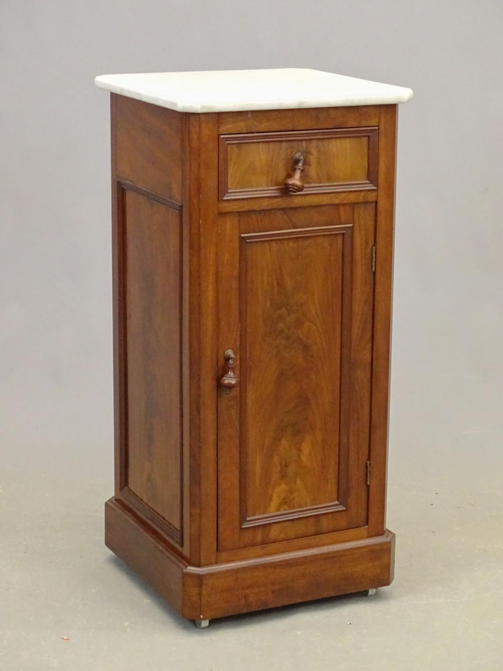 Marble Top Commode Cabinet