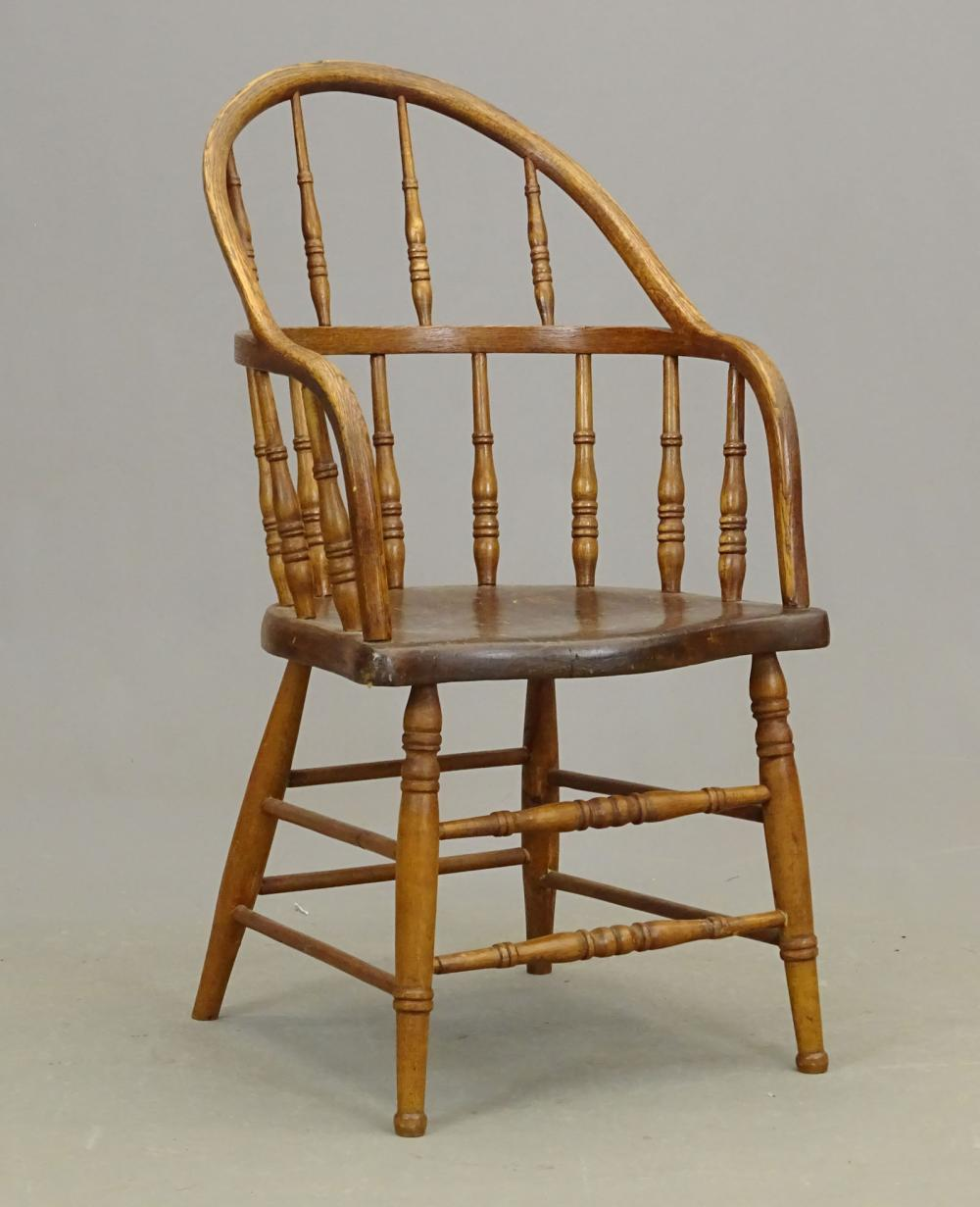 19th c. Firehouse Windsor Chair