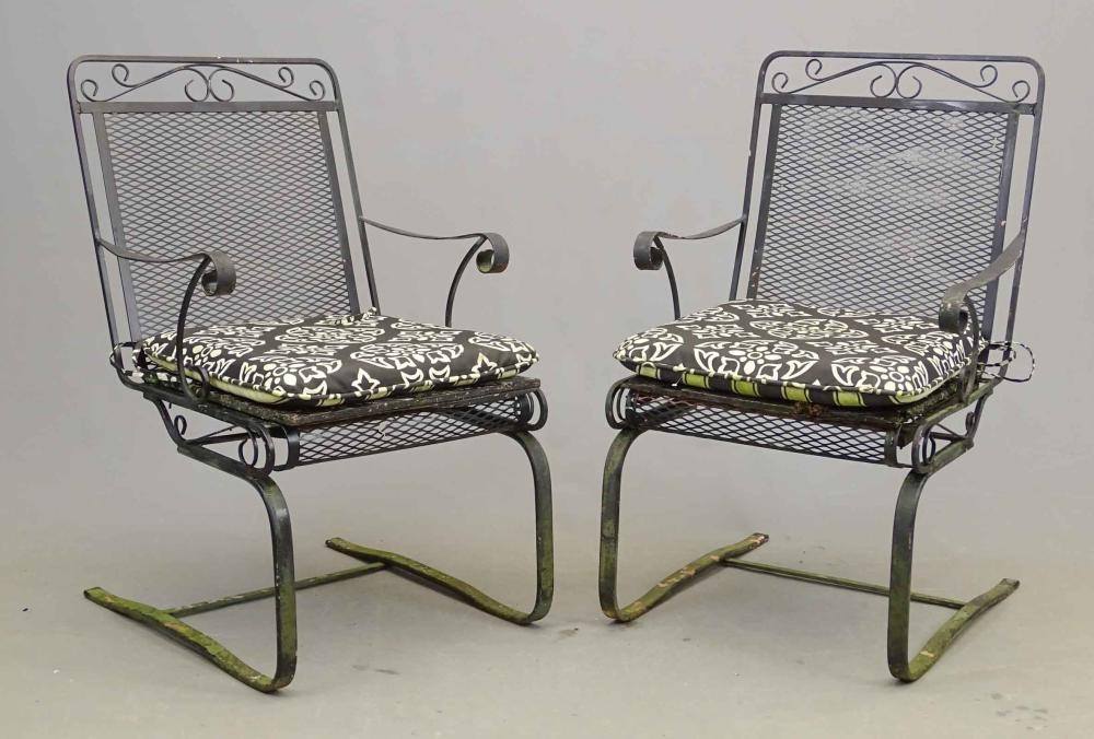 Pair Wrought Iron Chairs