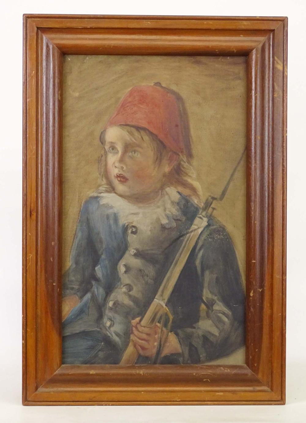 Painting, Portrait Of A Boy Soldier