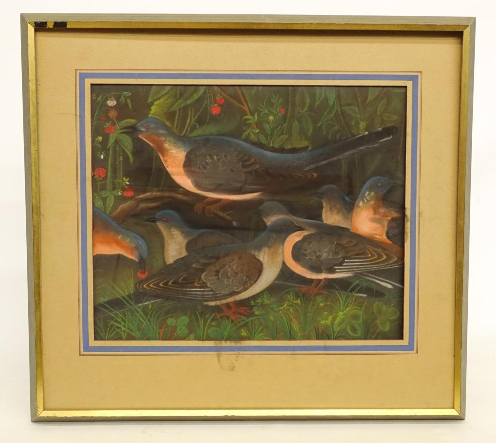 Painting, Pastel Of Birds
