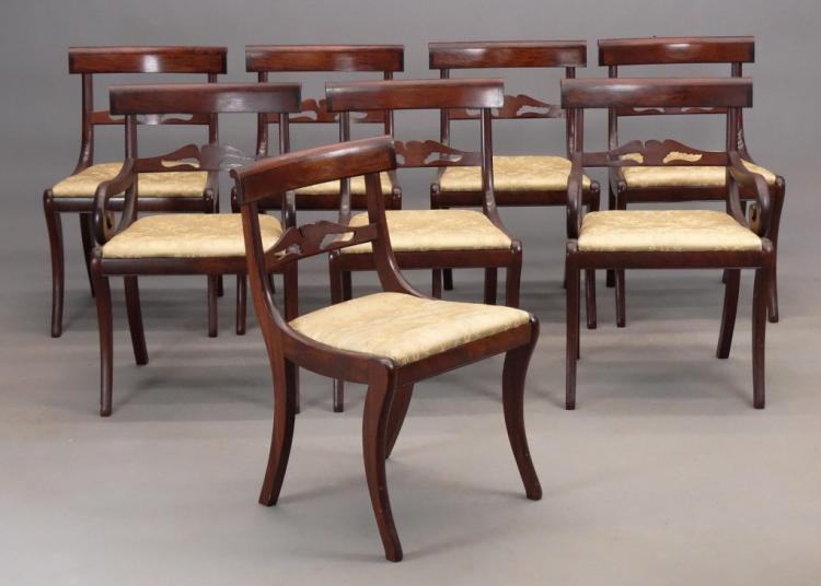 Set of 8 federal style mahogany chairs for Furniture federal way