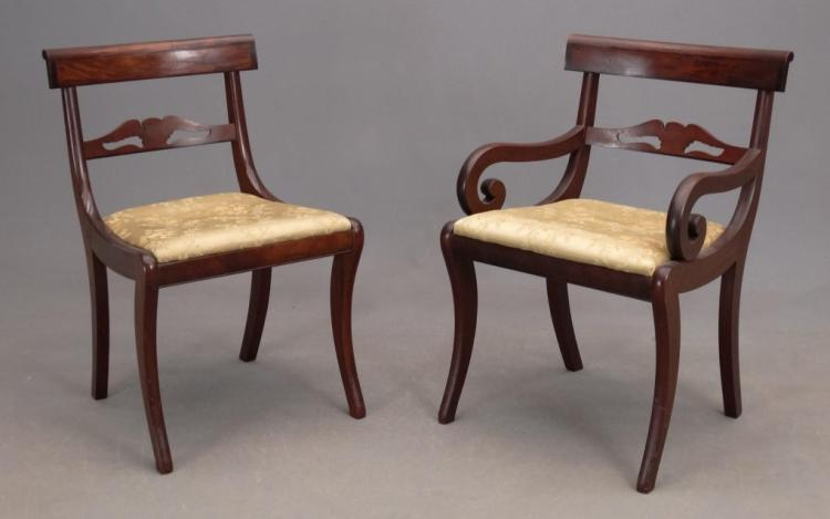 Set of 8 federal style mahogany chairs for Furniture in federal way