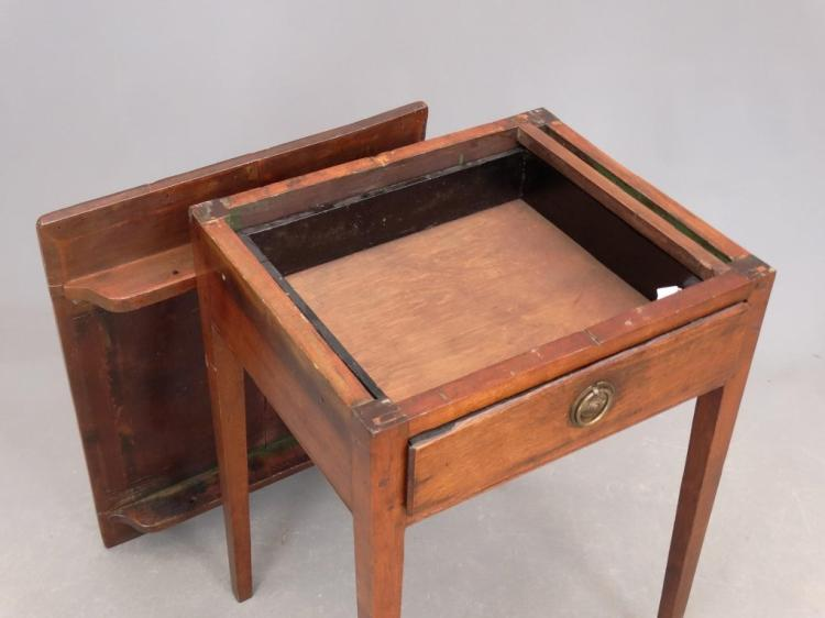 19th c single drawer side table for C table with drawer