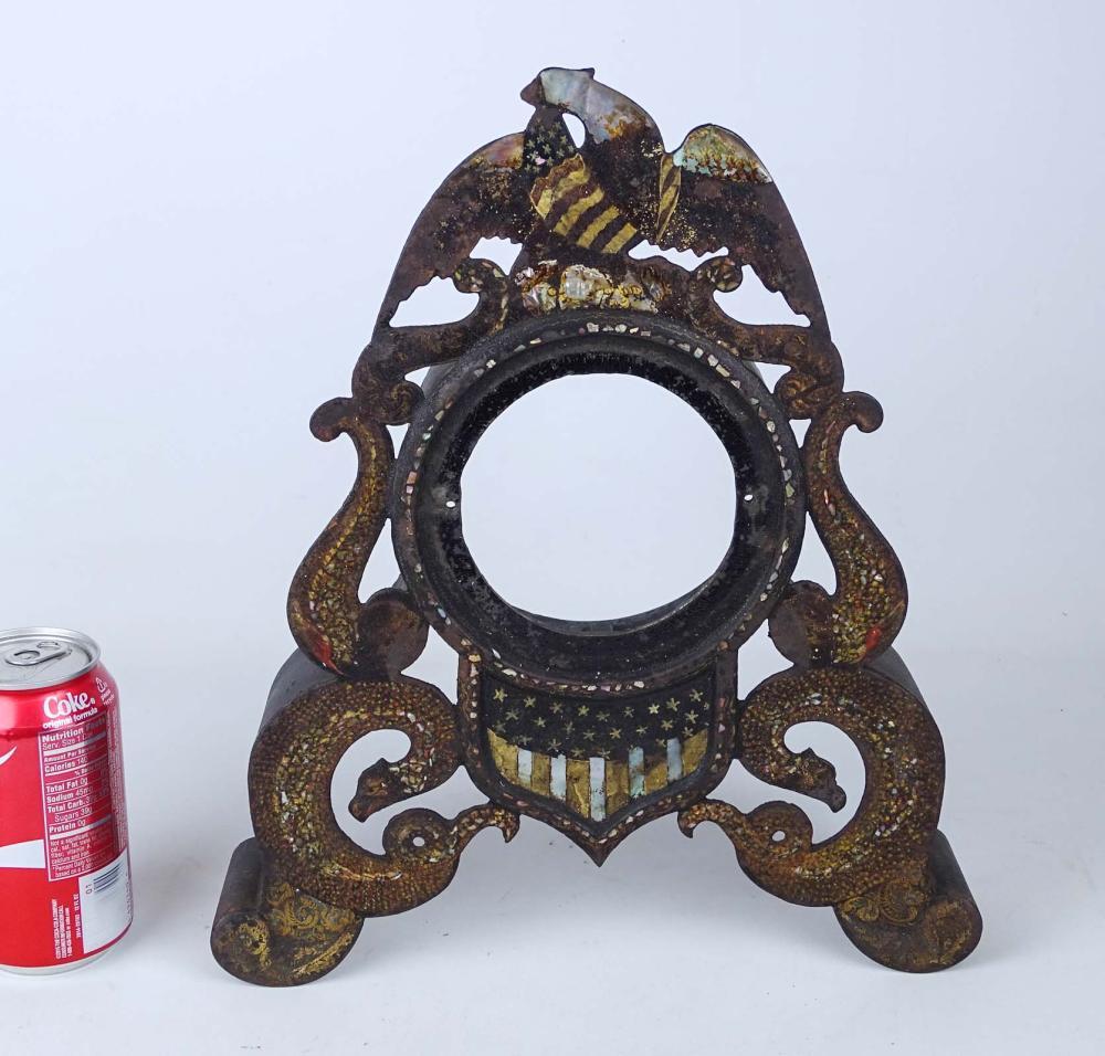 19th c. Iron Clock Case