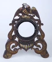 Lot 1: 19th c. Iron Clock Case