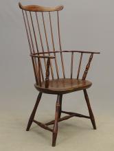 Lot 3: 18th c. Windsor Armchair