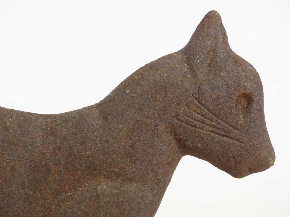 Lot 4: Cast Iron Cat Bootscraper