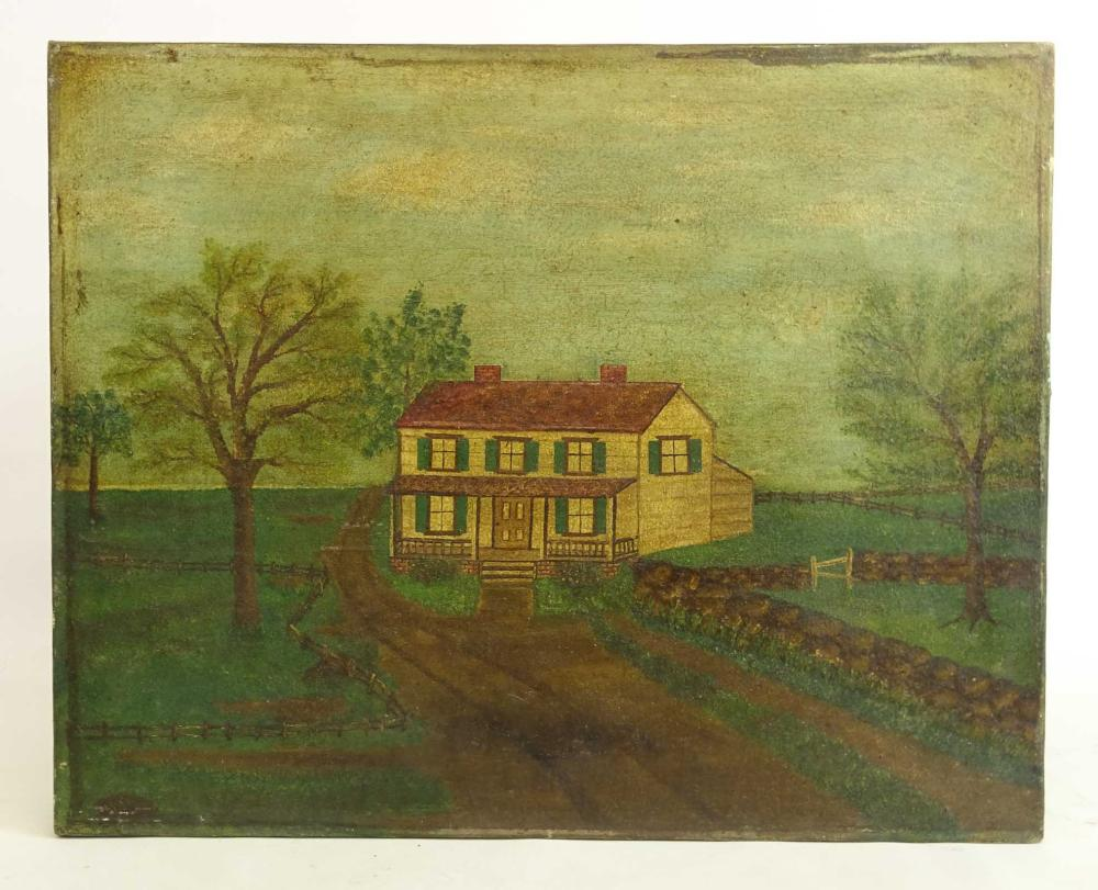 Lot 11: American School, 19th c. Farmhouse