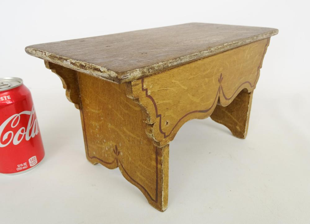 Lot 19: 19th c. Footstool
