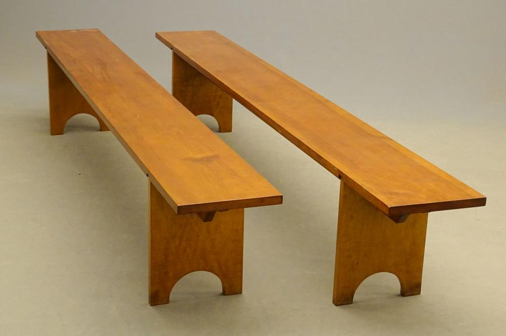 Lot 25: Pair Benches