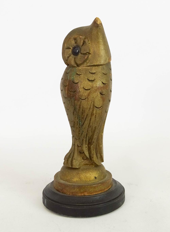 Lot 32: Folk Art Carved Owl