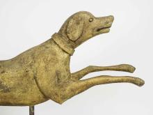 Lot 43: Wooden Carved Dog Weathervane