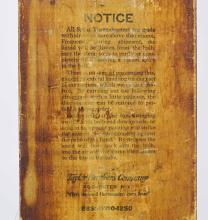 Lot 62: Early Advertising Thermometer
