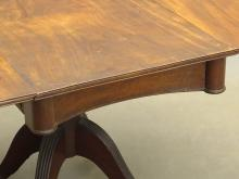 Lot 69: 19th c. Mahogany Dropleaf Table