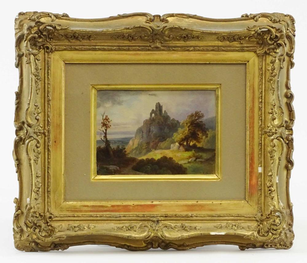 19th c. Landscape Signed BH